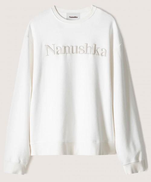 Stylealbum-Nanushka-remy-sweater-logo-sweatshirt