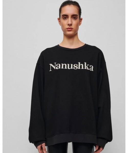 nanushka-remy-black-sweater-unisex-logo