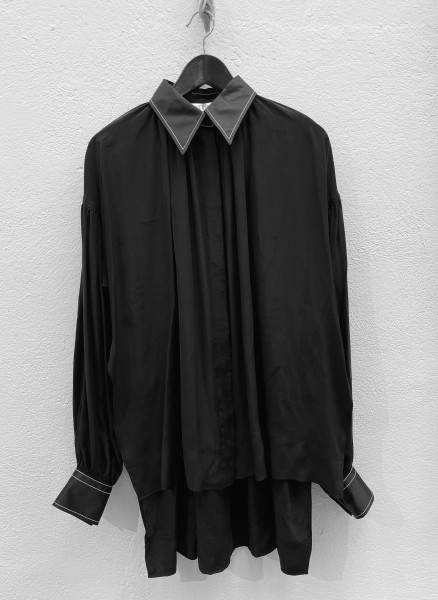 jw-anderson-gahtered-blouse-dress-stylealbum